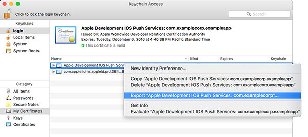 Setting Up APNS for Push Notifications