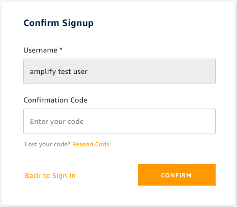 Confirm Signup