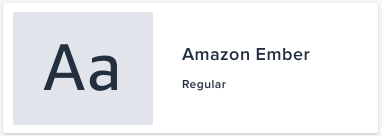 Amazon Ember Regular